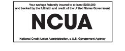 NCUA Website Logo and Link
