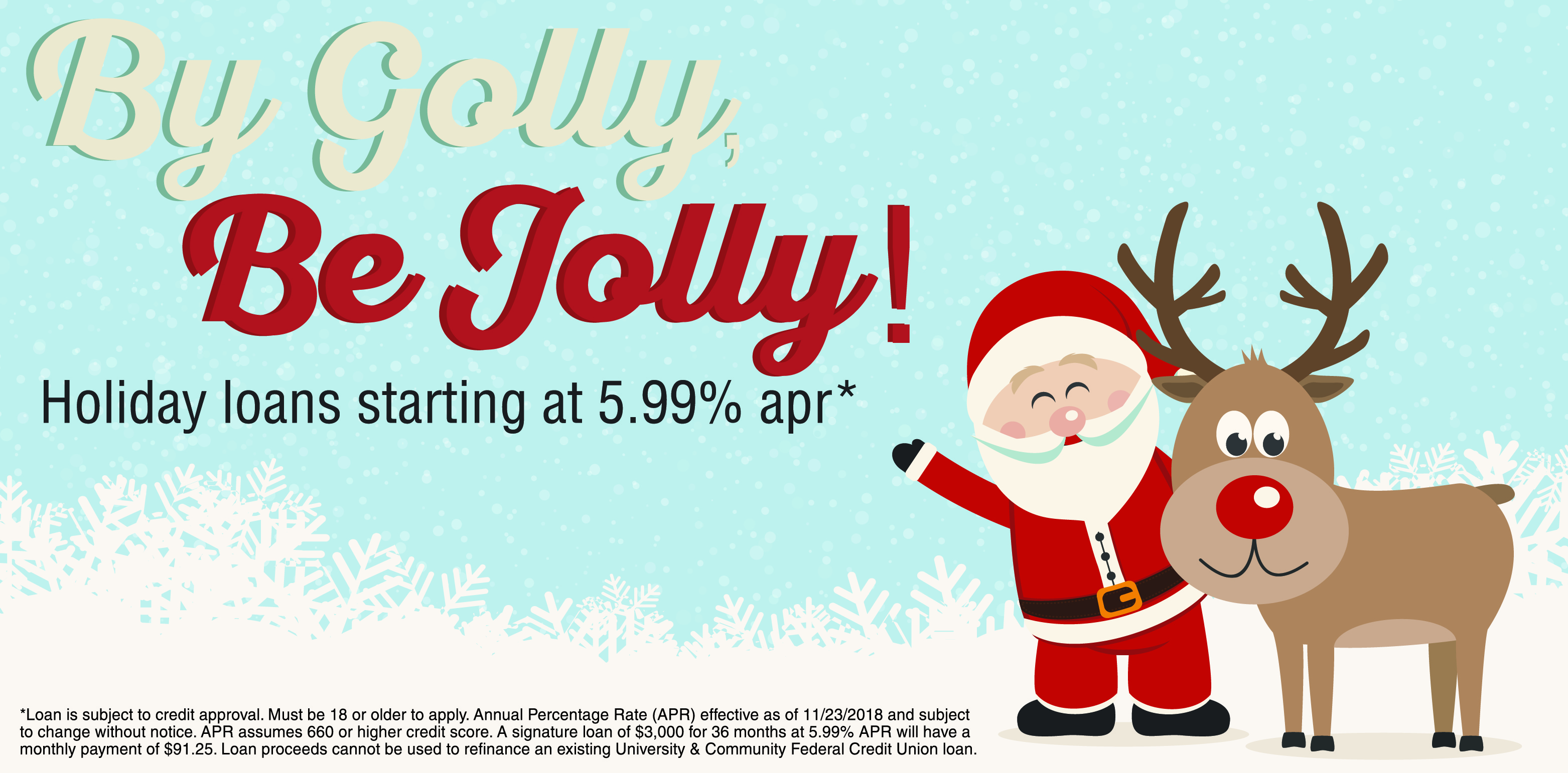 By Golly, Be Jolly Holiday Loan Promotion