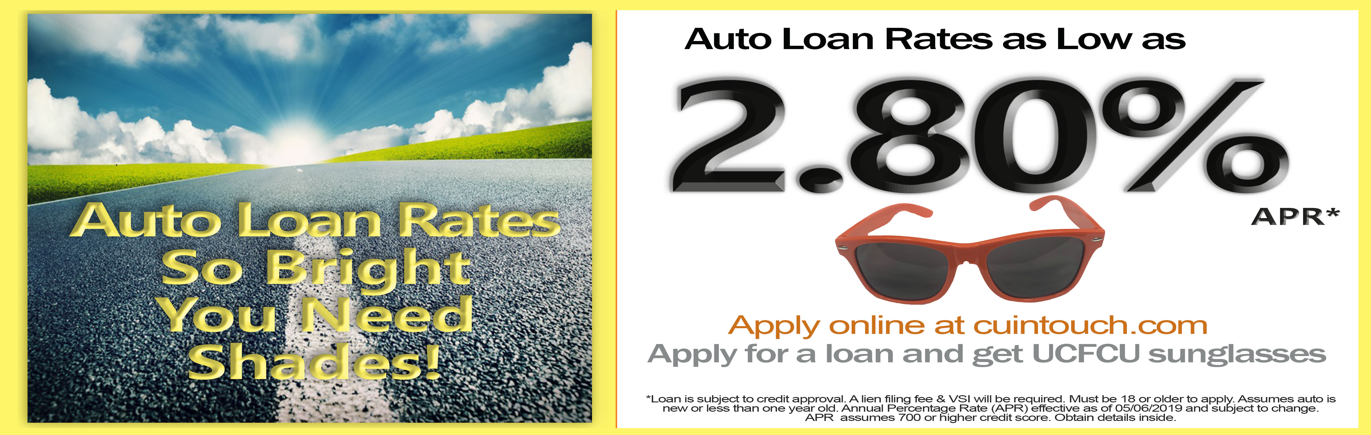 Auto Loan Summer Sale 2.80%