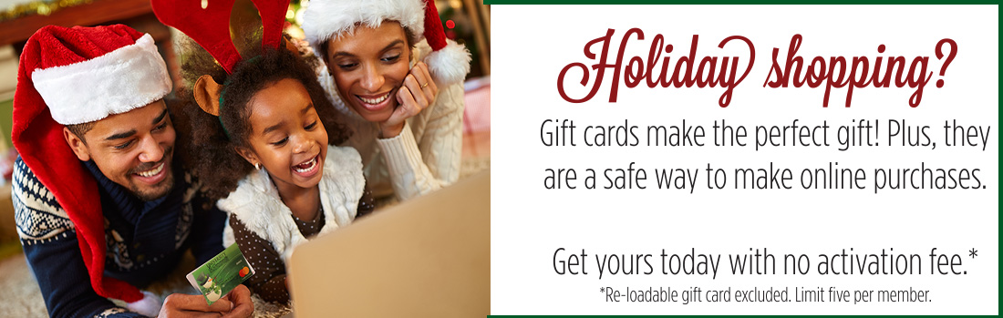 Gift Card for Holiday giving