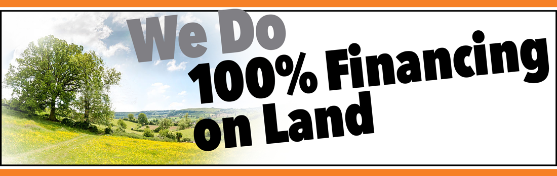 100 percent financing on land loans