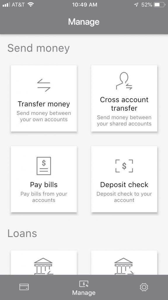 Mobile App Accounts Screen #1