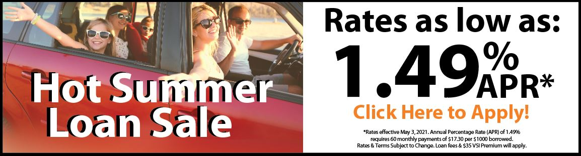 Family Car with summer loan sale caption at 1.49% APR